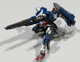 00 Gundam Seven Sword/G: GN Buster Rifle by mithrylaltaire