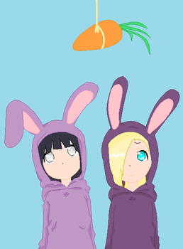 Get the carrot purple bunnies by kei-chan96