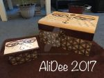 Wood burnt boxes together by AliDee33