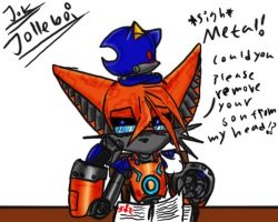 Metal Sonic's son 6 by Jolleboi