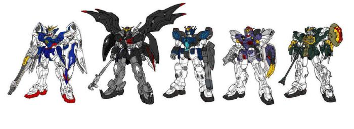 Gundam Wing colour by Deadman0087
