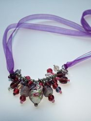 Rose Glass Beads and Ribbon by fruits-basket-head