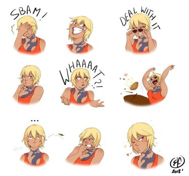 Commission - Stickers by Llythium-art