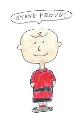 Charlie Brown stands proud by dth1971