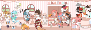bunnies and cream by Bunaberry