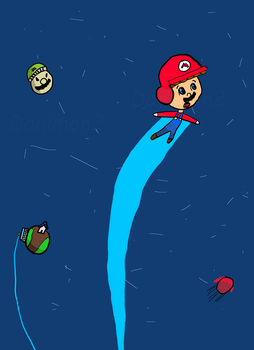 Doodle: Mario goes to space! by Danimon2
