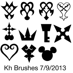 Kingdom Hearts Symbol Brushes by shuzzy