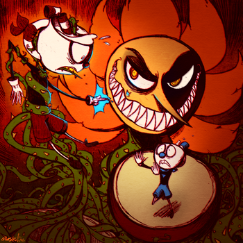 Cuphead - Floral Fury by Atlas-White