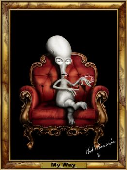 American Dad Roger, portrait of a life by webmartin99