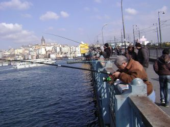Fishing on Galata by PsyChip