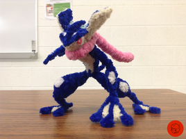 #658- Greninja Pipe Cleaner Figure (COMM)