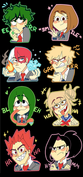 My hero academia( Sparkly) stickers! by Feri-Marife