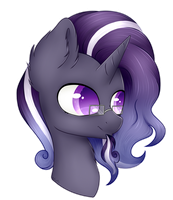 Headshot Commission Fully Shaded (Astral Storm) by AcrylliaV
