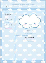 Cloud CSS Journal Layout by Kezzi-Rose