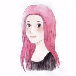 Pink Hair Girl by madna29