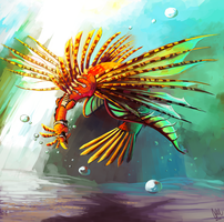 A different type of Pokemon: water/poison Ho-oh by DrManiacal