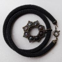 Gothic Black Necklace by borysbrytva