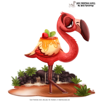Daily Painting 1643# - Flanmingo by Cryptid-Creations