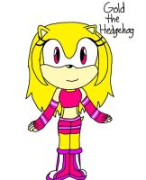 Gold The Hedgehog by sally219