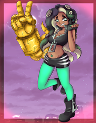 Marina with a big arm by TheRickMaster