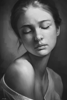Portrait Practice 3 by AaronGriffinArt