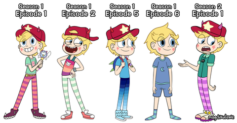 Male Star Butterfly Outfits 1-5 by magdikulewe