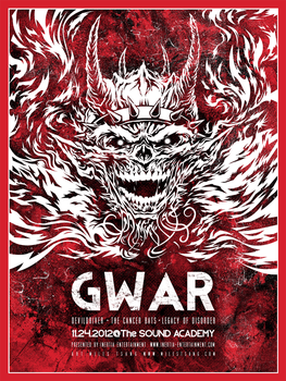 Screenprint : Gwar @ The Sound Academy by milestsang