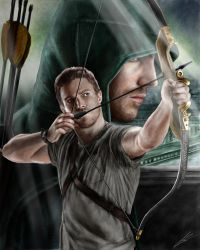 Arrow (Stephen Amell) drawing by Saxa-XCII