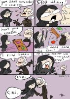 The Witcher 3, doodles 58 by Ayej