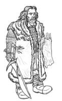 Thorin Oakenshield lineart. by Oznerol-1516