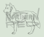 WOLF base lineart by NorthernRed