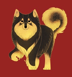 Geometric dogs - Finnish Lapphund by Kelgrid
