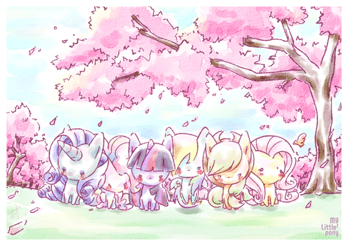 The pony's cherry blossom viewing by ef74