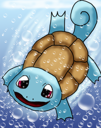 Pokeseries (Digital) #007 Squirtle (reup) by TwiggyTwix
