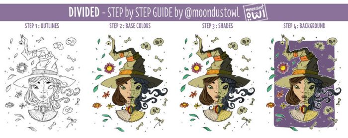 Divided - Step by Step Guide by painted-leaf