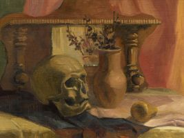 Scull and vase by Moolver-sin