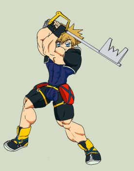 Muscle Sora by chocomus
