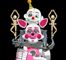 [MMD] Ennard and Funtime Foxy by ZexionStrife