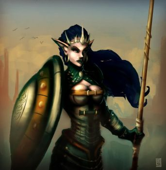 Elven Elite Guard by Meridianos