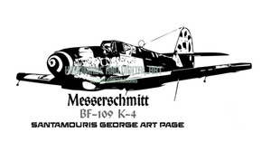 Messerschmitt BF-109 K-4 by SANTAMOURIS1978