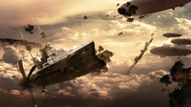 Airship Battle by chedoy
