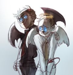 angel and devil by pinali