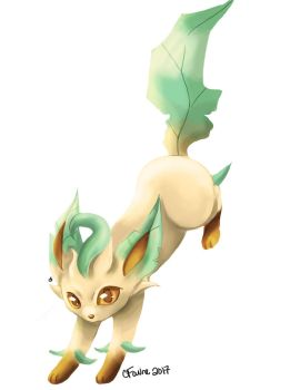 Speed Painting - Leafeon by ChelseaFavre