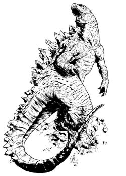 RAW Showcase Exclusive #2 - Godzilla by DynamixINK