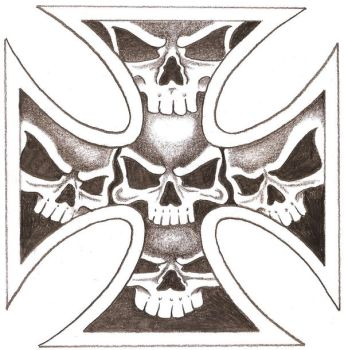Iron Skull Cross by TheLob