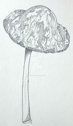 magpie ink cap by redwolfgirl