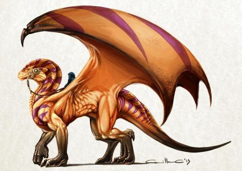 Desert Dragon by MillaMeh