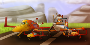 Planes: Crophopper Family Outing by Aileen-Rose