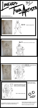 Commissions for Artists - Linework. by MalikJack23