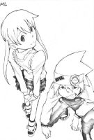 Soul and Maka, Soul Eater by SoulessRoman